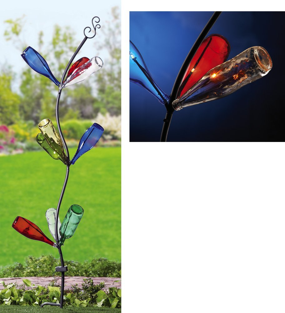 Garden Stake Wine Bottle Tree